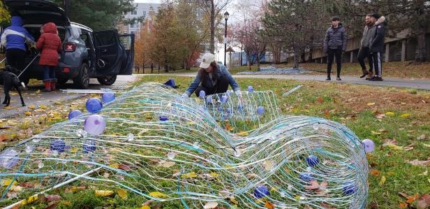 FutureWATERS|AGUASfuturas installation on the East Boston Greenway